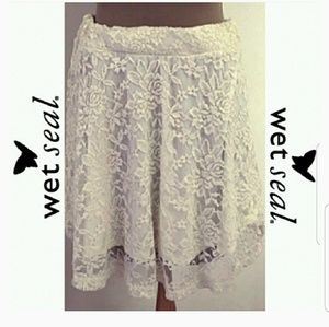 Classy Knee-Length Lace Skirt by Wet Seal Size S